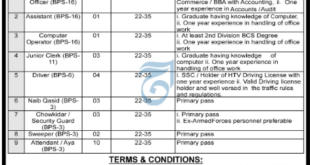 Vacant Position In Government Organization OF KPK For Graduates jobs
